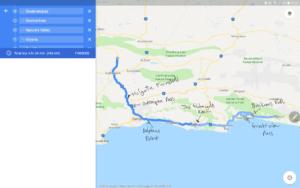 oudtshoorn bike trip route map