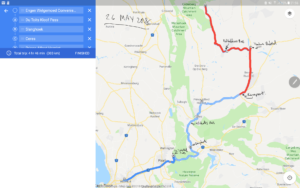 Cederberg Bike Trip Route Map