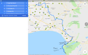 van der stel pass bike trip route map