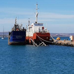 The sunken vessel
